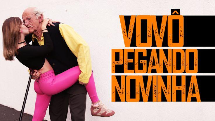 PEGADINHA:VOVÔ PEGANDO NOVINHA (girl kissing old man in plublic Prank) - YouTube