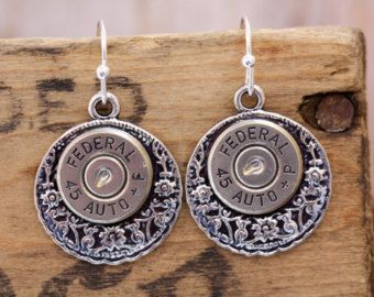 Choice 40 SW Bullet Earrings Winchester 40 SW Bullet by lauralynns