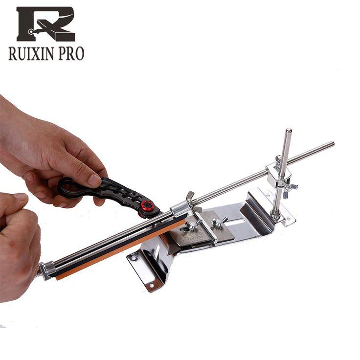 Update baru besi baja knife sharpener Profesional Kitchen Knife Sharpener Sharpening Perbaiki Tetap Angle dengan batu