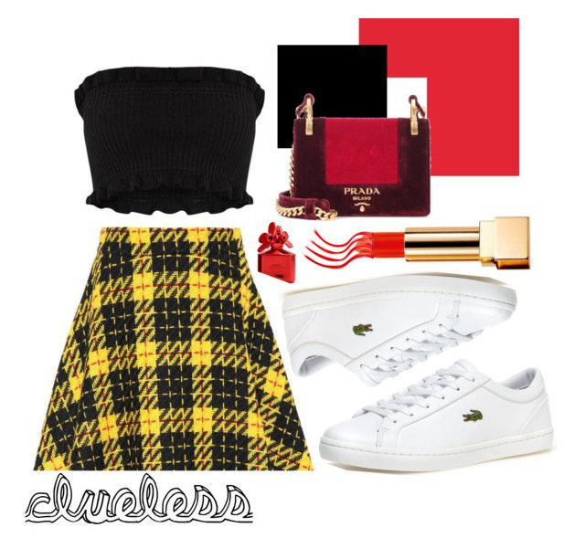 """""""Clueless"""" by amberkpickup on Polyvore featuring Miu Miu, Yves Saint Laurent, Lacoste, Prada and Marc Jacobs"""