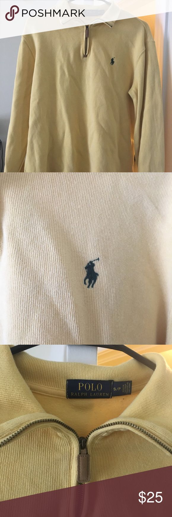 Men's small yellow polo pullover Men's yellow pullover. Gently used. Size small Polo by Ralph Lauren Jackets & Coats Lightweight & Shirt Jackets