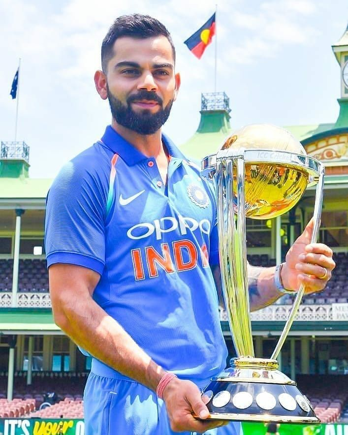 Virat Kohli Ca World Cup Trophy Virat Kohli Virat Kohli Wallpapers