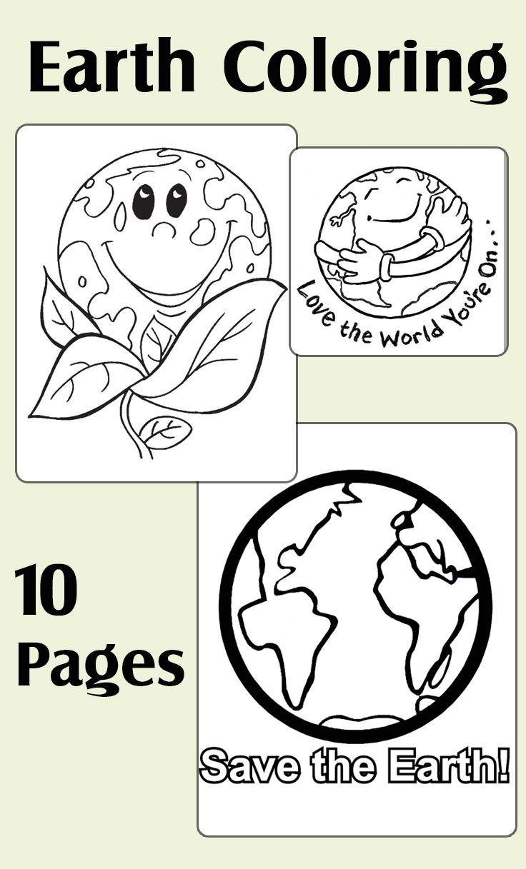 Top 10 Earth Coloring Pages For Your Toddler