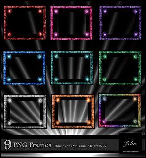 09 beautiful PNG frames free download - Lucky Studio 4U