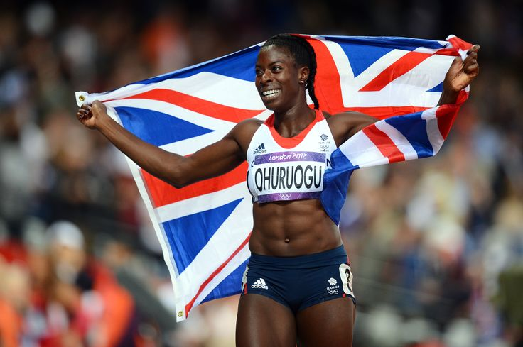 Christine Ohuruogu celebrating her silver medal