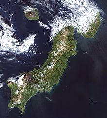 Paramushir (Russian: Парамушир, Paramushir; Japanese: 幌筵島 Paramushiru-tō, Ainu: パラムシㇼ or パラムシㇽ), is a volcanic island in the northern portion of Kuril Islands chain in the Sea of Okhotsk in the northwest Pacific Ocean.