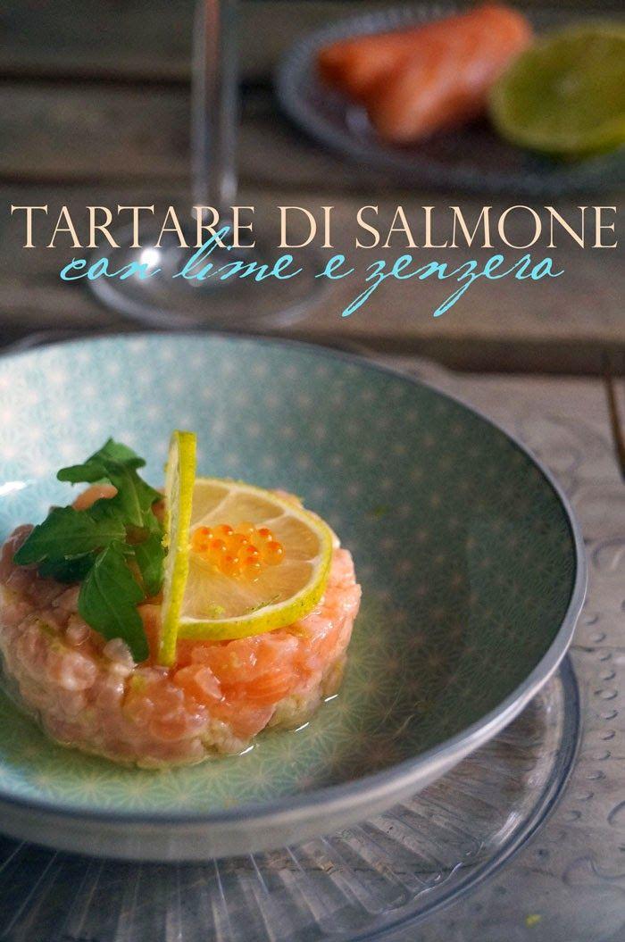 il gattoghiotto: Tartare di salmone con lime e zenzero