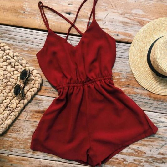 Roxanne Red Romper is so cute and on sale! Entire website is up to 70% off! http://ss1.us/a/uhldXUOV