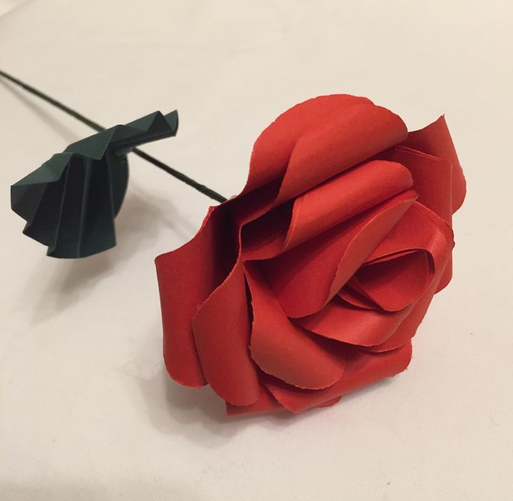 A personal favourite from my Etsy shop https://www.etsy.com/uk/listing/268085742/single-paper-rose-paper-roses-gift-for