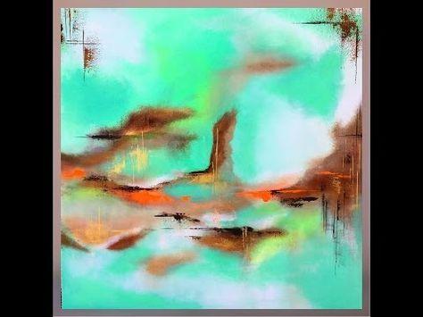 Comment Faire Une Peinture Abstraite Acrylique Video Hd Youtube