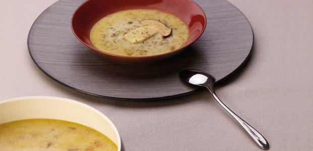 Zuppa di funghi e castagne