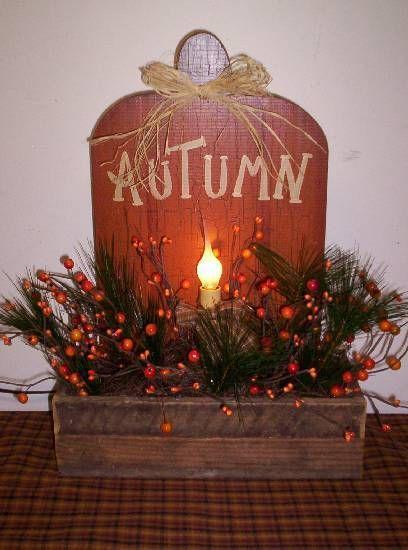 This is too cute.: Wood Pumpkin, Autumn Fal Decor, Fall Decor, Autumn Fall, Country Decor, Autumn Candles, Autumn Decor, Holidays Decor, Autumn Pumpkin