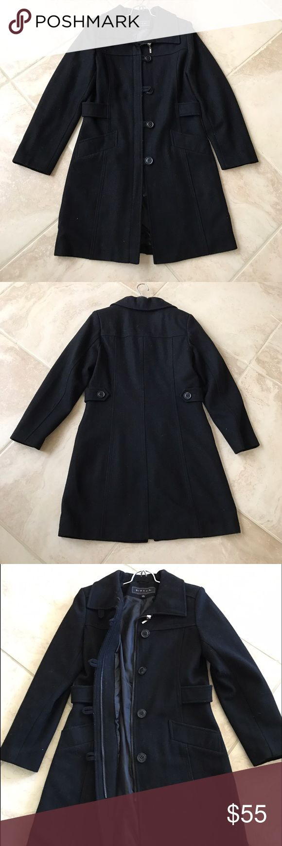 Giacca Gallery wool coat Giacca Gallery coat shell 80% wool 20% polyester, zip and buttons closure, excellent used condition, Giacca Gallery Jackets & Coats