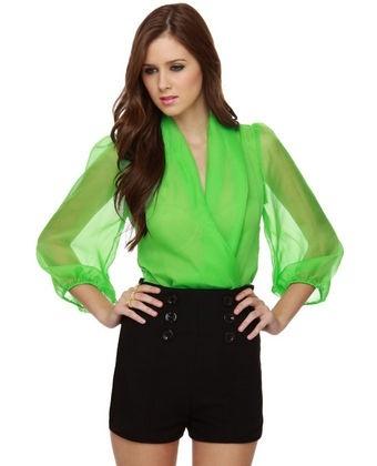 Lime Green Bodysuit
