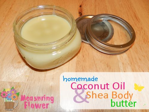 Homemade body butter - I've made this twice now and it works great as a rich moisturizer. I'm using it every day this winter.