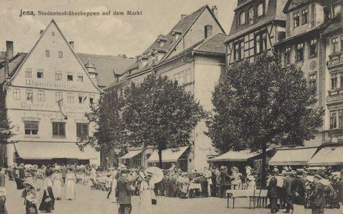 Jena, Thüringen: Studentenfrühschoppen auf dem Markt