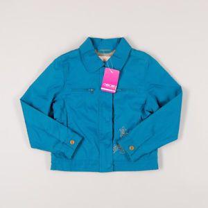 a cazadora con cremalleras en bolsillos y bordados de marca cherokee en color azul - Categoria: Ropa, calzado y complementos  Estado del Producto: UsadoPrice: 9,40 EUR Ver Producto
