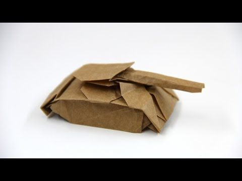 How to make an origami Tank (Ivan Danny) - YouTube