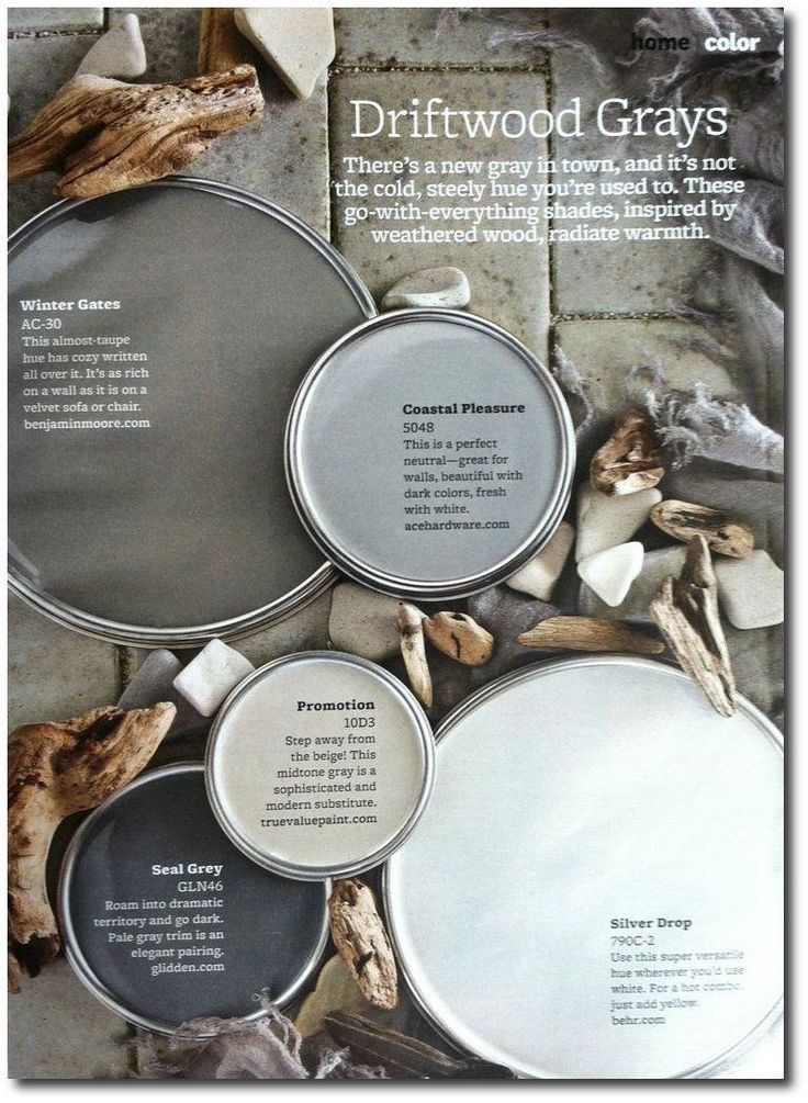 Driftwood Grays +The Top 30 Paint Colors - Better Homes And Gardens Featured Paint Shades                                                                                                                                                     More