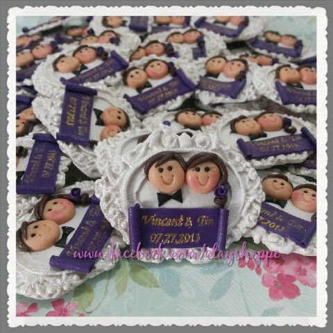 wedding souvenir fridge magnets
