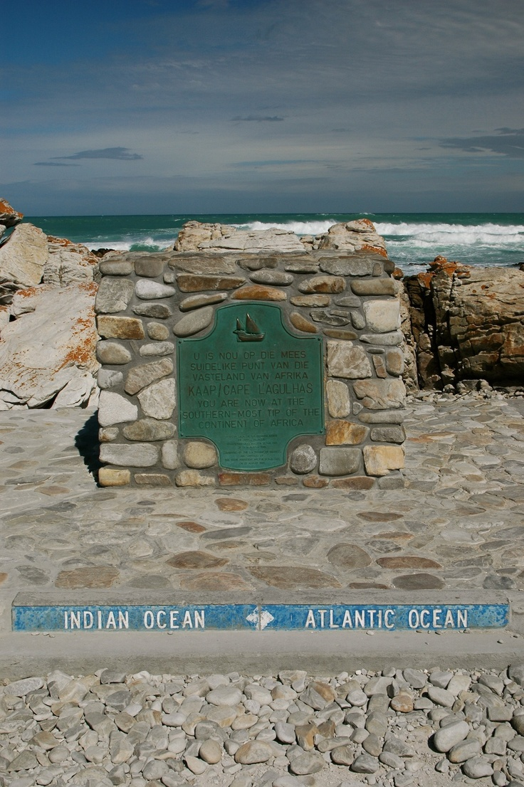 The most southern most tip of Africa, where the Indian and Atlantic Oceans meet