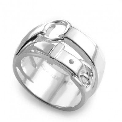 Hermes Debridee Silver Ring