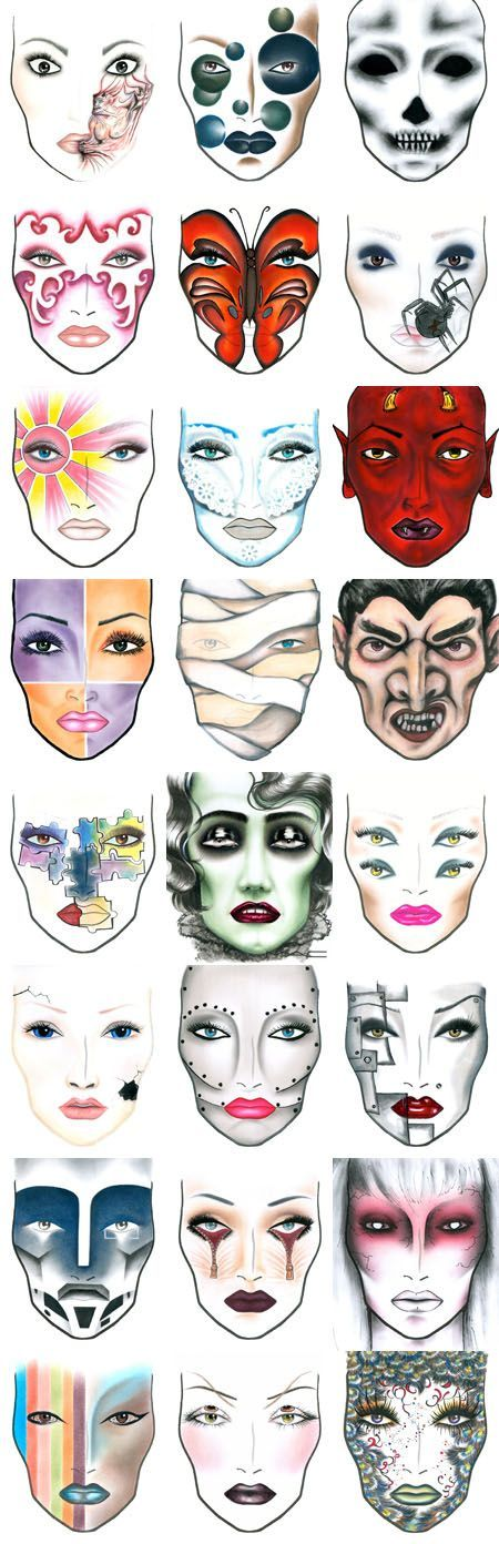Halloween, anyone? Get Ready early.....Halloween Shops are opening soon Halloween Makeup #halloween #makeup #facepaintingideas