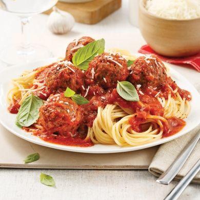 Spaghetti sauce marinara et boulettes végé - Recettes - Cuisine et nutrition - Pratico Pratique