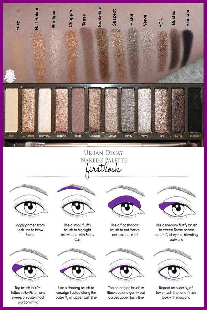 urban decay naked2 palette eyeshadow tutorial