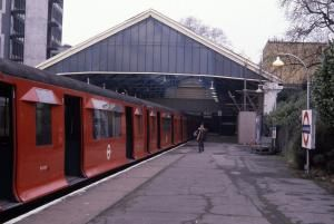 CO/CP stock train at Ealing Broadway on the last day of the stock's operation. Photographed by WNT, 31 March 1981