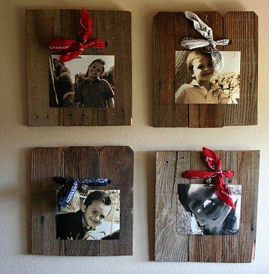 DIY easy picture frames