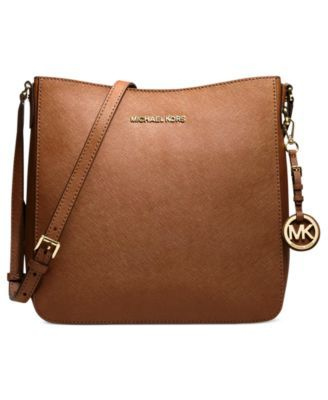 MICHAEL Michael Kors Jet Set Travel Large Saffiano Messenger Bag - Handbags & Accessories - Macy's
