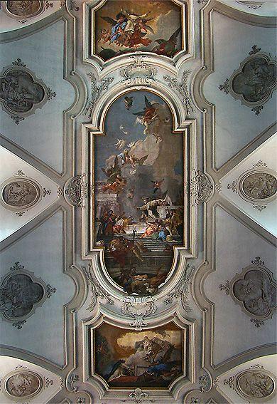 Le plafond de Tiepolo, église de Santa Maria del Rosario, Venise