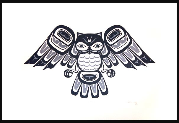 Native american owl tattoo - photo#2