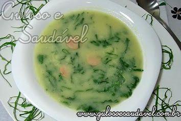 Pessoal, este Caldo Verde Light Sem Batata só não é light no sabor, é delicioso e levinho!  #Receita aqui: http://www.gulosoesaudavel.com.br/2011/06/19/caldo-verde-light-sem-batata/