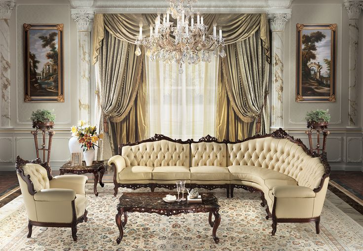 CECHOV Classic italian luxury modular sofa and armchair