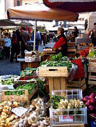 Märkte in Rom - Markt auf dem Campo de' Fiori...