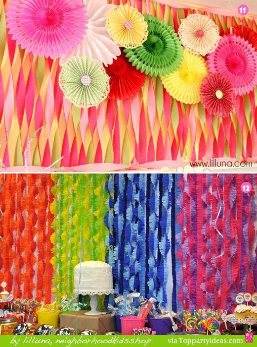 19 best crepe paper streamers images on pinterest - Birthday decorations with crepe paper ...
