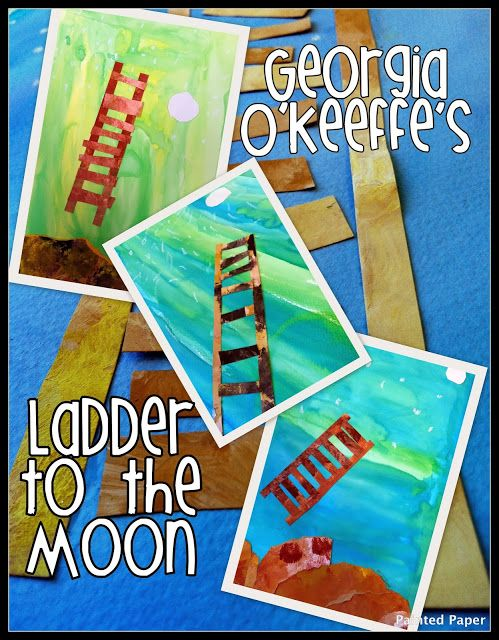 PAINTED PAPER: Ladder to the Moon