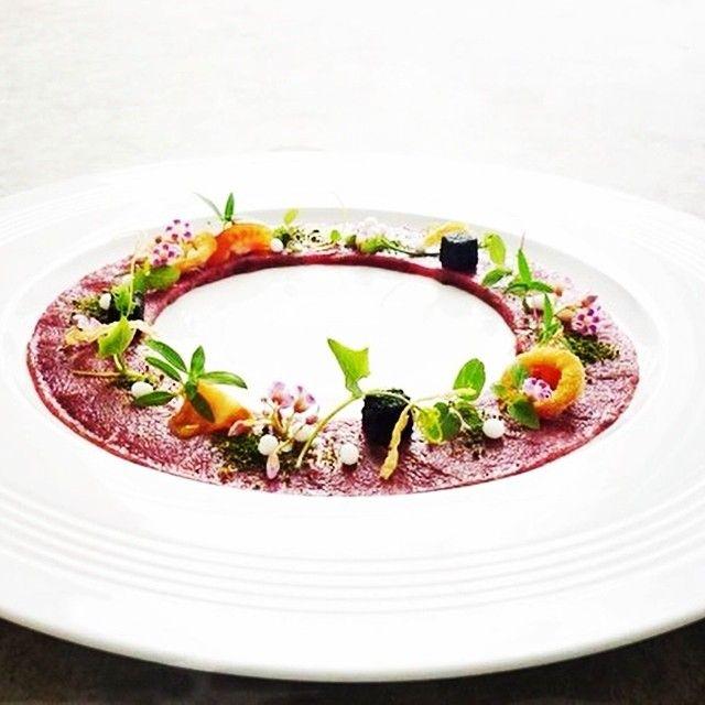 Beef carpaccio, from Executive chef Wuttiamporn, Phuket, Thailand