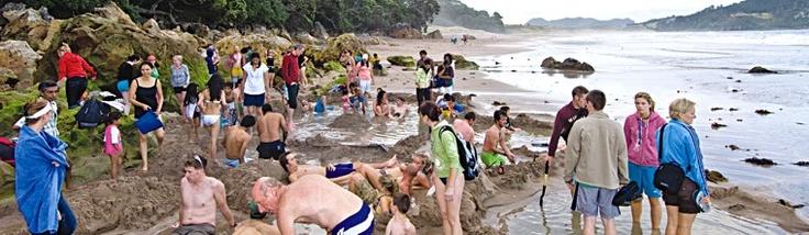 Hot Water Beach!