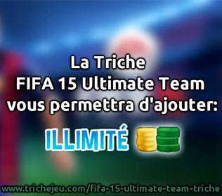 Rejoignez le groupe de 50 000 clients satisfaits qui ont bénéficié de FIFA 15 Ultimate Team Triche. Notre demande est simple à utiliser, afin que chacun puisse faire face. http://trichejeu.com/fifa-15-ultimate-team-triche/