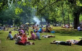 Het vondelpark in Amsterdam