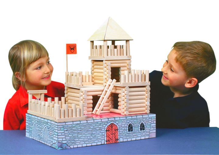 Dřevěné domečky stavebnice pro děti