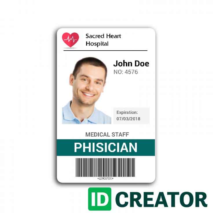 Doctor Id Card 2 Id Card Template Identity Card Design Badge Template