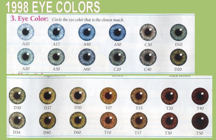 Eye Color Chart | Denver Era My Twinn Eye Color Charts ...
