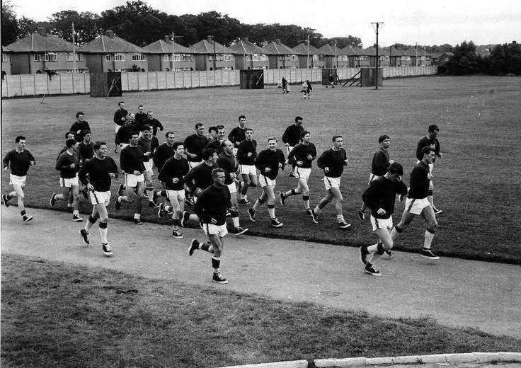 Pre-season training at Melwood (1963)