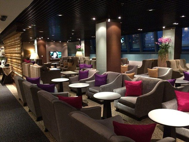 Thai Airways Royal First Class | Airport lounge | Contract furniture #airportlounge #contractfurniture Read more at: www.brabbu.com
