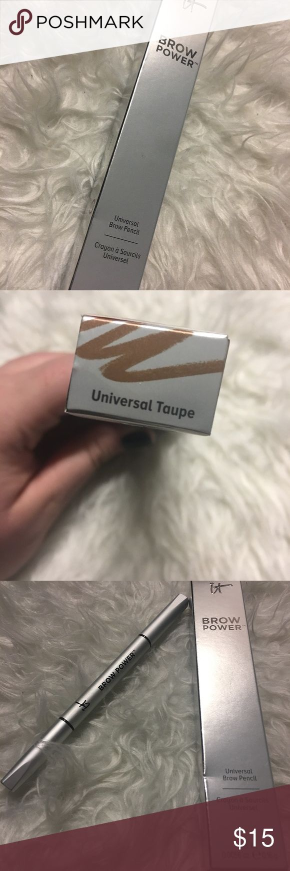 IT Cosmetics Universal Brow Pencil Brand new, never used! Took a screenshot from their website to show the color of the pencil. I personally love this product! IT Cosmetics Makeup Eyebrow Filler