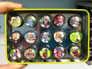 Easy & cheap DIY grandparent gift idea!  Thumbnail prints made into magnets